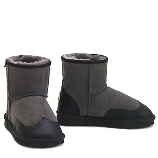 Brogues Mini Ugg Boots - Grey