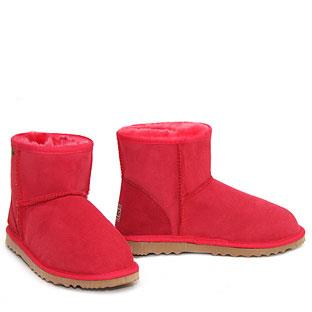 950dc3361 Classic Mini Ugg Boots Red : Ugg Boots Made in Australia