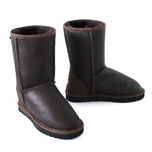 Classic Short Bomber Ugg Boots - Chocolate
