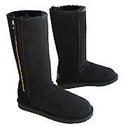 Classic Tall Zip Ugg Boots - Black