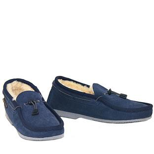 Cord Slip-on Navy