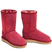 Deluxe Classic Short Ugg Boots - Burgundy