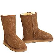 Deluxe Jean Short Ugg Boots - Chestnut