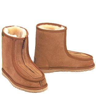Eskimo Joe Front Zip Deluxe Ugg Boots - Chestnut