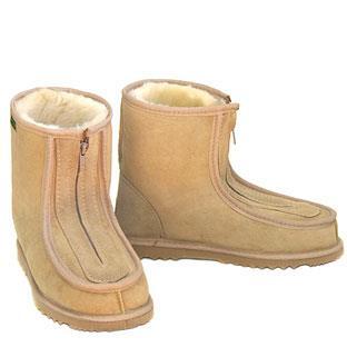 Eskimo Joe Front Zip Deluxe Ugg Boots - Sand