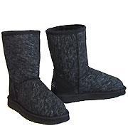Jean Short Ugg Boots - Black