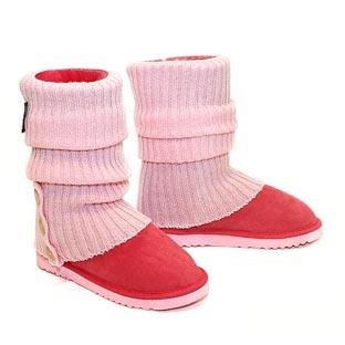 Knitted Short Ugg Socks & Deluxe Boots - Strawberry