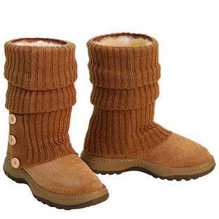 Offroader Short Boots & Knitted Ugg Socks - Chestnut