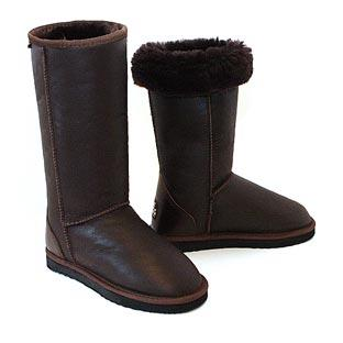 Classic Tall Bomber Ugg Boots - Chocolate