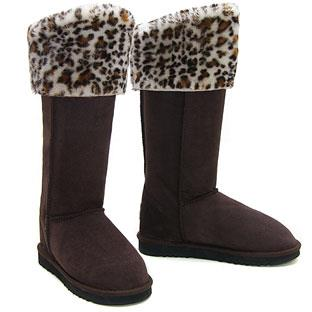 Rosette Ultra Tall Ugg Boots - Chocolate Snow Leopard