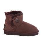 Button Wraps Mini Ugg Boots - Chocolate