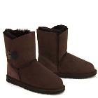 One Button Wraps Ugg Boots - Chocolate