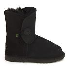 One Button Wraps Ugg Boots - Black