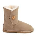 One Button Wraps Ugg Boots - Sand