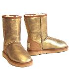 Classic Short Bomber Ugg Boots - Antique Gold