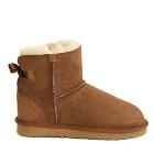 Mini Metro Bow Ugg Boots - Chestnut
