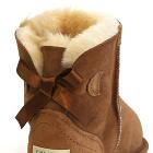 Mini Metro Bow Ugg Boots - Chestnut