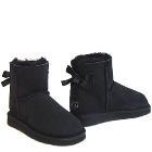 Mini Metro Bow Ugg Boots - Black