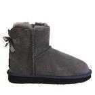 Mini Metro Bow Ugg Boots - Grey