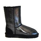 Deluxe Classic Short Ugg Boots - Sparkle Black
