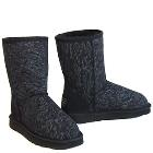 Deluxe Jean Short Ugg Boots - Black