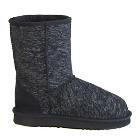 Deluxe Jean Short Ugg Boots - Black