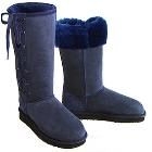 Deluxe Classic Tall Lace Up Ugg Boots - Navy