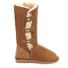 Tall Three Button Wraps Ugg Boots Chestnut - Clarence Sale