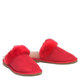 Ladies Lux Scuffs Red