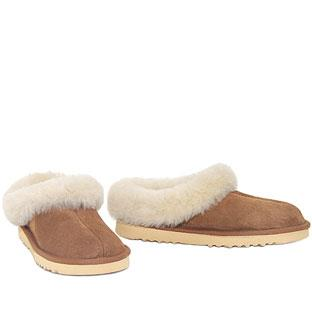 Lux Mule Slippers Chestnut