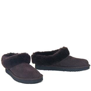 Lux Mule Slippers Chocolate