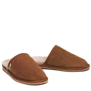 Mens Comfort Scuffs Chestnut
