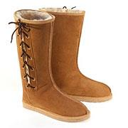 Rip Long Lace Up Ugg Boots - Chestnut - Clearance Sale