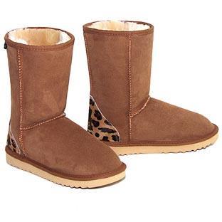 Safari Classic Short Ugg Boots - Leopard Chestnut