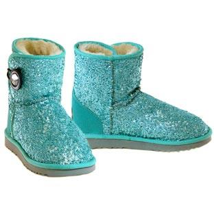 Shimmer Mini Button Wrap Boots - Jade