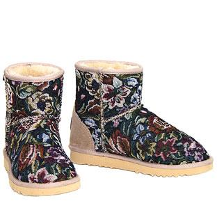 Tapestry Classic Mini Ugg Boots - Sand
