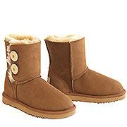 Two Button Wraps Ugg Boots - Chestnut