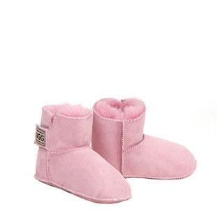 Velcro Baby Booties - Pink