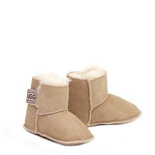 Velcro Baby Booties - Sand