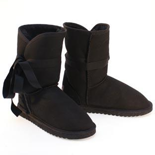 Wicked 3/4 Wrap Ugg Boots - Black