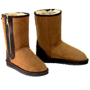 Zip Ugg Boots Chestnut-Brown
